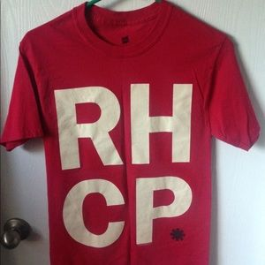Red hot chili peppers red tee